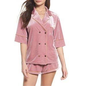 Chelsea28  It Takes Two Velvet Pajamas Set